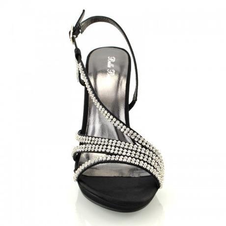 ASHLEIGH, černé plesové sandálky, 36-41, 40