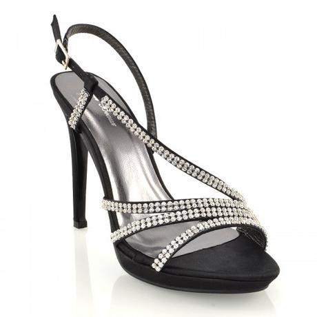 ASHLEIGH, černé plesové sandálky, 36-41, 41