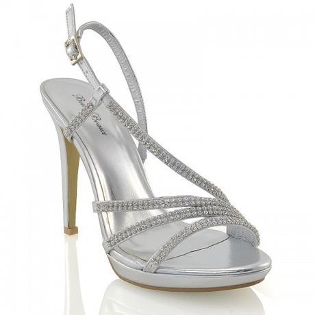 ASHLEIGH, stříbrné plesové sandálky, 36-41, 39