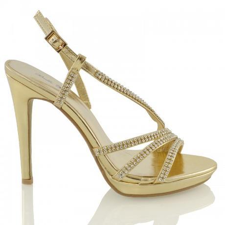 ASHLEIGH, stříbrné plesové sandálky, 36-41, 41