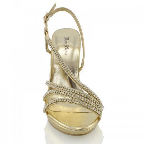 ASHLEIGH, zlaté plesové sandálky, 36-41, 36