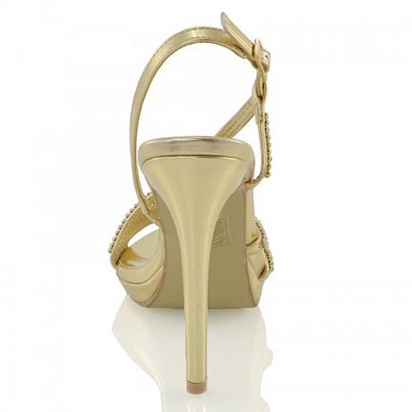 ASHLEIGH, zlaté plesové sandálky, 36-41, 41