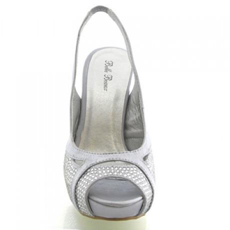 BELLE, stříbrné plesové lodičky, 36-41, 36