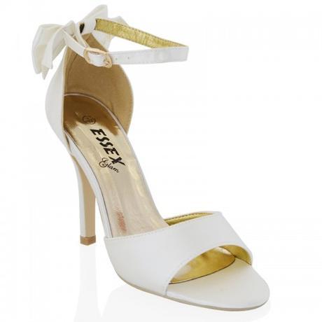 BERNADETTE, bílé svatební sandálky, 36-41, 41