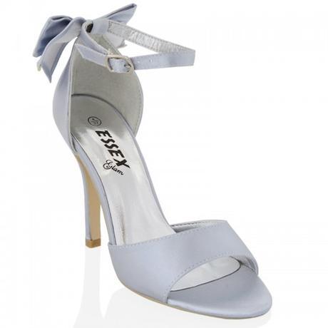 BERNADETTE, stříbrné společenské sandálky, 36-41, 41