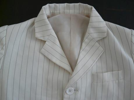 Béžové proužkaté sako, 2-3 roky, 92