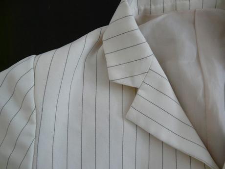 Béžové proužkaté sako, 2-3 roky, 98