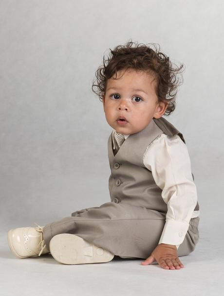 Béžový oblek 12-18 měsíců, půjčovné, 86