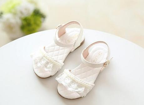 Bílé dětské sandálky, 25-29, 28
