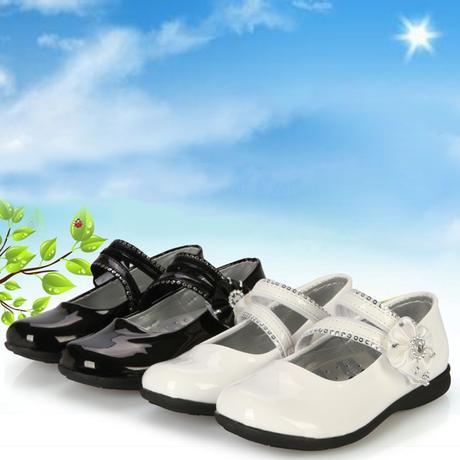 Bílé dětské svatební boty, 26-32, 30