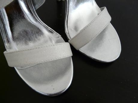Bílé glitter sandálky, svatební, 36