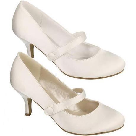 Bílé, ivory svatební lodičky, 36-41, 36