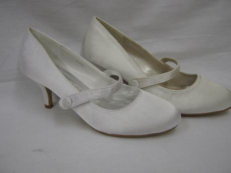 Bílé, ivory svatební lodičky, 36-41, 41