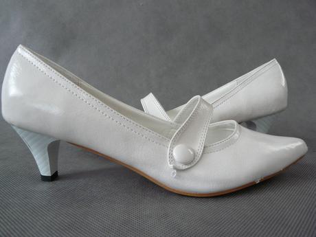 Bílé jednoduché lodičky, 38