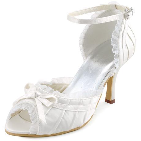 Bílé krajkové svatební lodičky, 34-42, 34