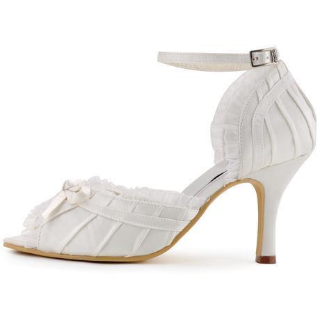 Bílé krajkové svatební lodičky, 34-42, 35