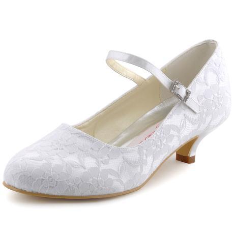Bílé krajkové svatební lodičky, 35-42, 38