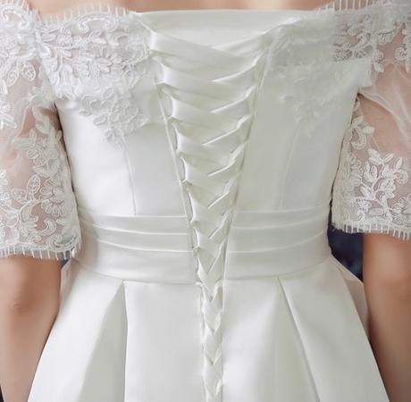 Bílé krátké svatební šaty, popůlnočky, XS-Xl, 38
