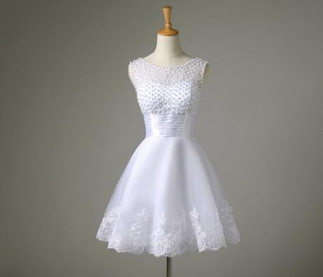 Bílé krátké svatební šaty, popůlnočky, XS-Xl, 40