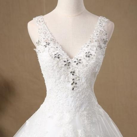 Bílé nebo ivory, svatební šaty, reálné foto , 42