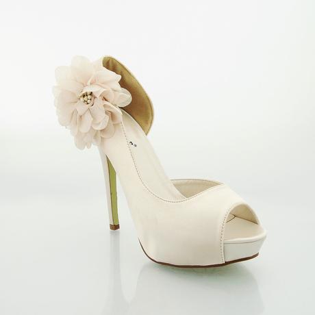 Bílé saténové svatební lodičky, sandálky, 36-41, 36