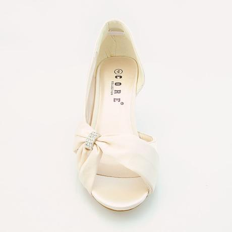 Bílé saténové svatební lodičky, sandálky, 36-41, 35