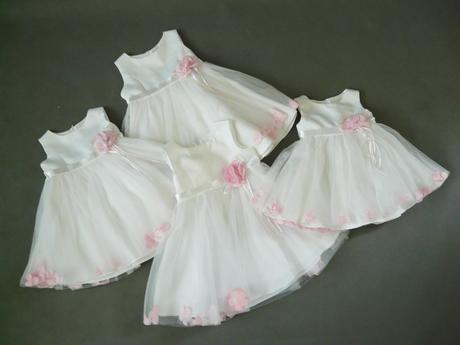 Bílé šaty na vítání občánků, na svatbu, půjčovné , 80