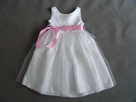 Bílé šaty pro družičku , 80