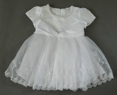 Bílé šaty pro družičku, křtiny, 80