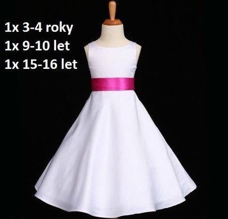 Bílé šaty pro družičky, 15-16 let - půjčovné, 170