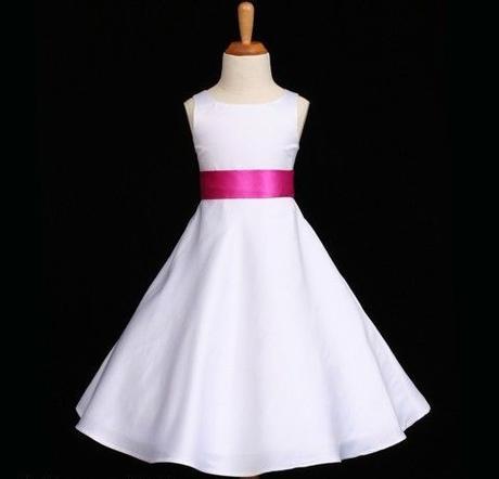 Bílé šaty pro družičky 3-4 - půjčovné, 104