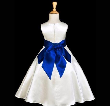Bílé šaty pro družičky 9-10 - půjčovné, 146