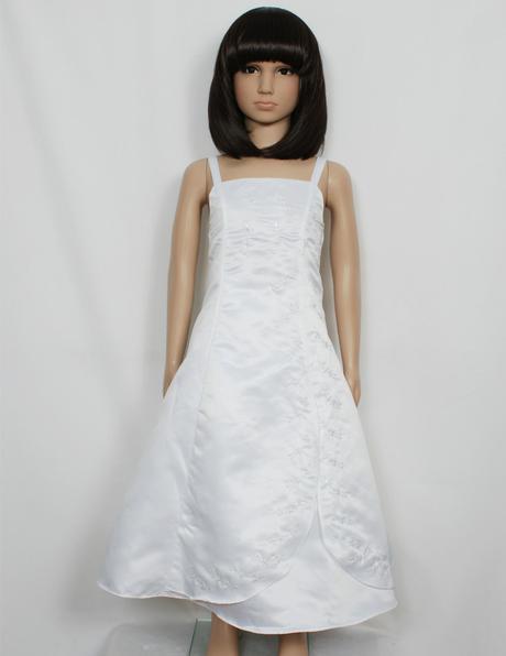Bílé šaty s bolerkem 7-10 let - půjčovné, 128