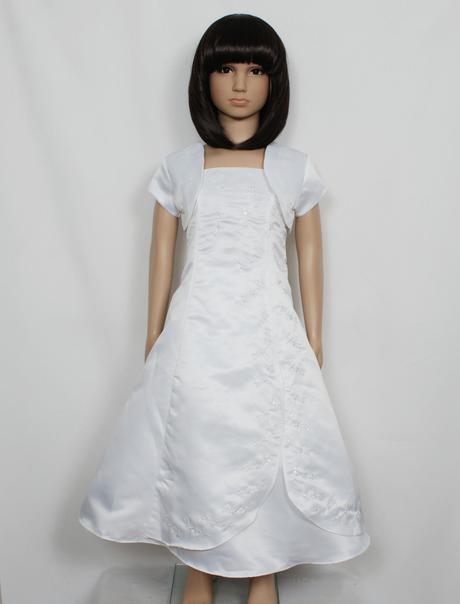 Bílé šaty s bolerkem, 7-10 let - půjčovné, 134