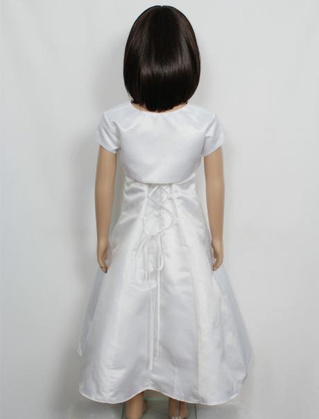 Bílé šaty s bolerkem, 7-10 let - půjčovné, 140