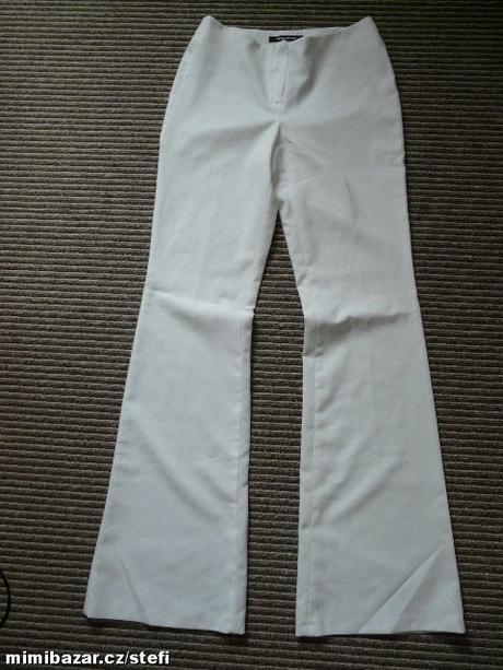Bílé společenské kalhoty, S