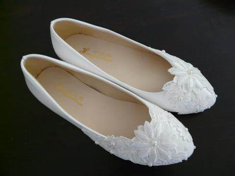 Bílé svatební balerínky, 34, 35,36,37,38,39, 34