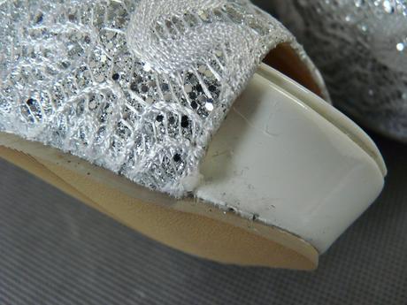Bílé svatební krajkové lodičky, 36