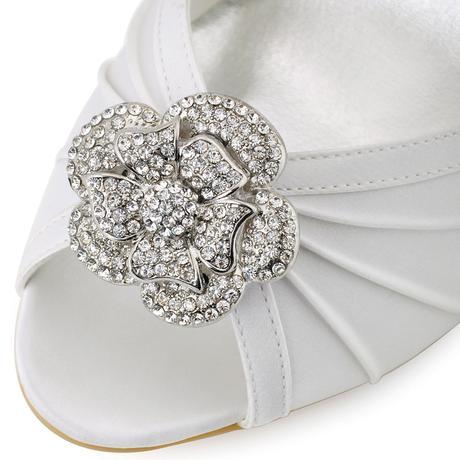 Bílé svatební lodičky, 35-42, 35