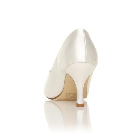 Bílé svatební lodičky, nízký podpatek, 36-41, 36