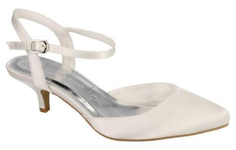 Bílé svatební lodičky, nízký podpatek, 36-41, 39