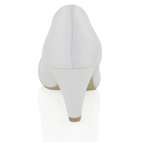 Bílé svatební lodičky, nízký podpatek, 36-42, 38