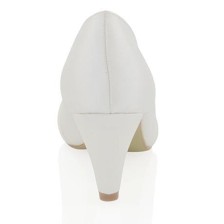 Bílé svatební lodičky, nízký podpatek, 36-42, 40