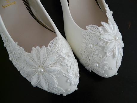 Bílé svatební lodičky, výběr podpatku, 34-39, 35