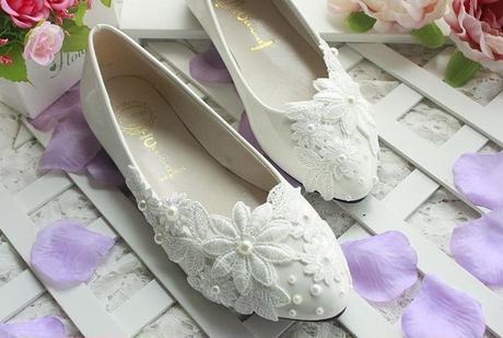Bílé svatební lodičky, výběr podpatku, 34-39, 36
