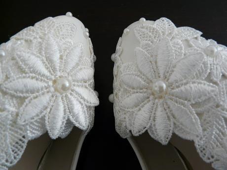 Bílé svatební lodičky, výběr podpatku, 34-39, 37