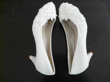 Bílé svatební lodičky, výběr podpatku, 34-39, 39
