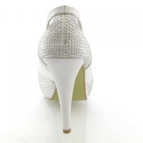 Bílé svatební lodičky, vysoký podpatek, 36-41, 38