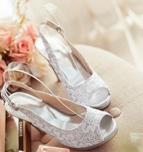 Bílé svatební sandálky, 34-41, 35