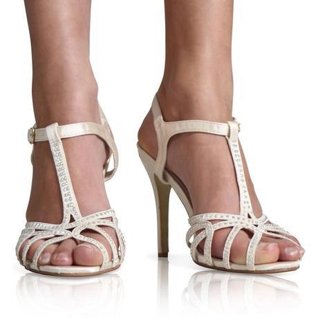 Bílé svatební sandálky, 36-41, 36